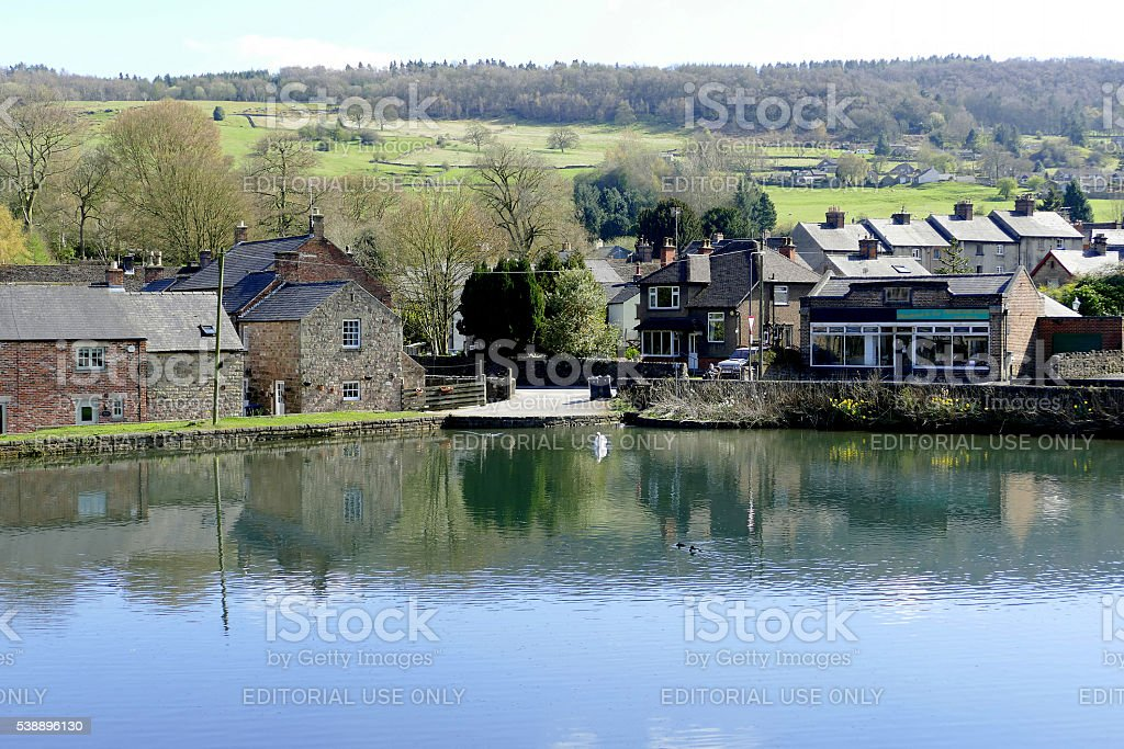 Cromford, Derbyshire. stock photo