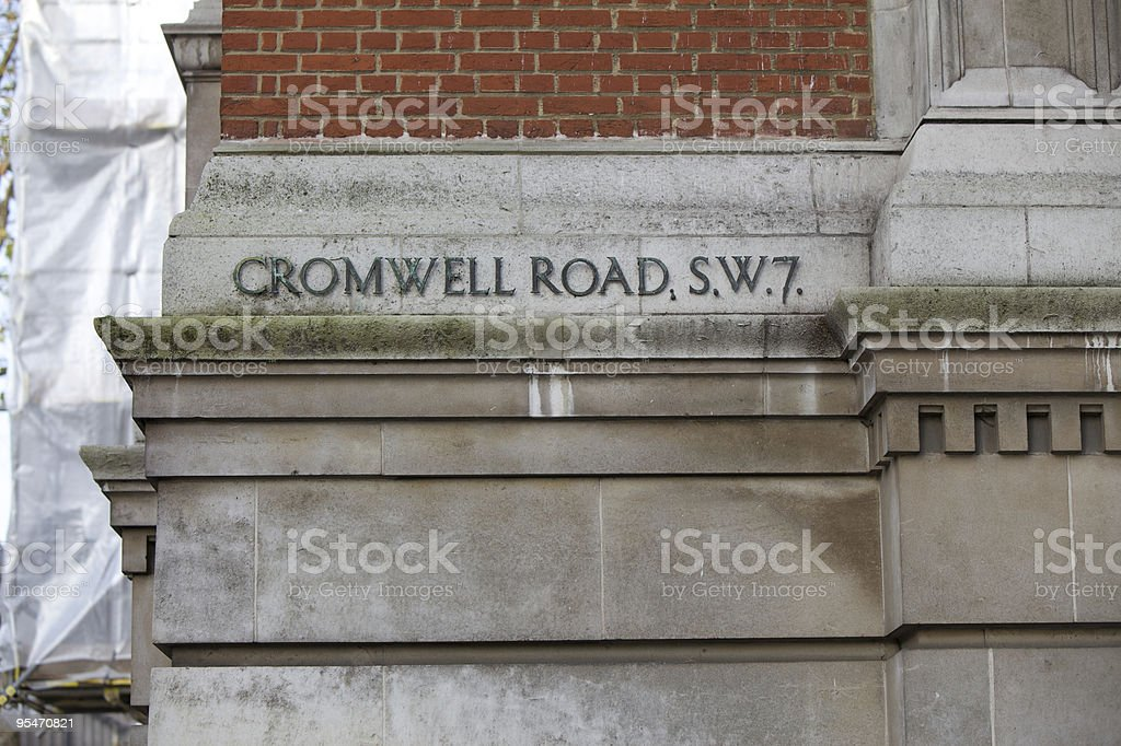 Cromwell Road royalty-free stock photo