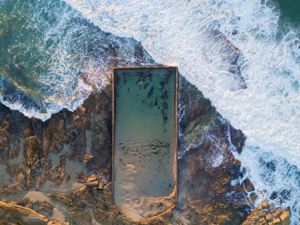 Cronulla tidal bath stock photo