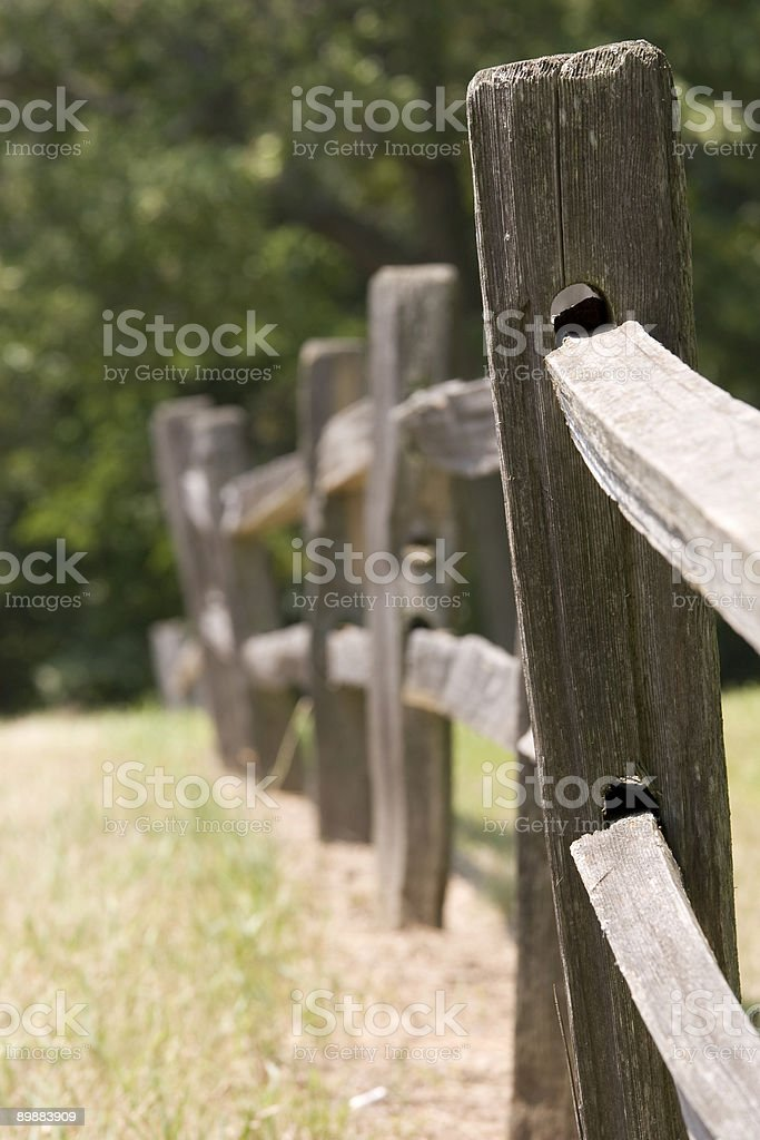 crooked fence 2 royalty-free stock photo
