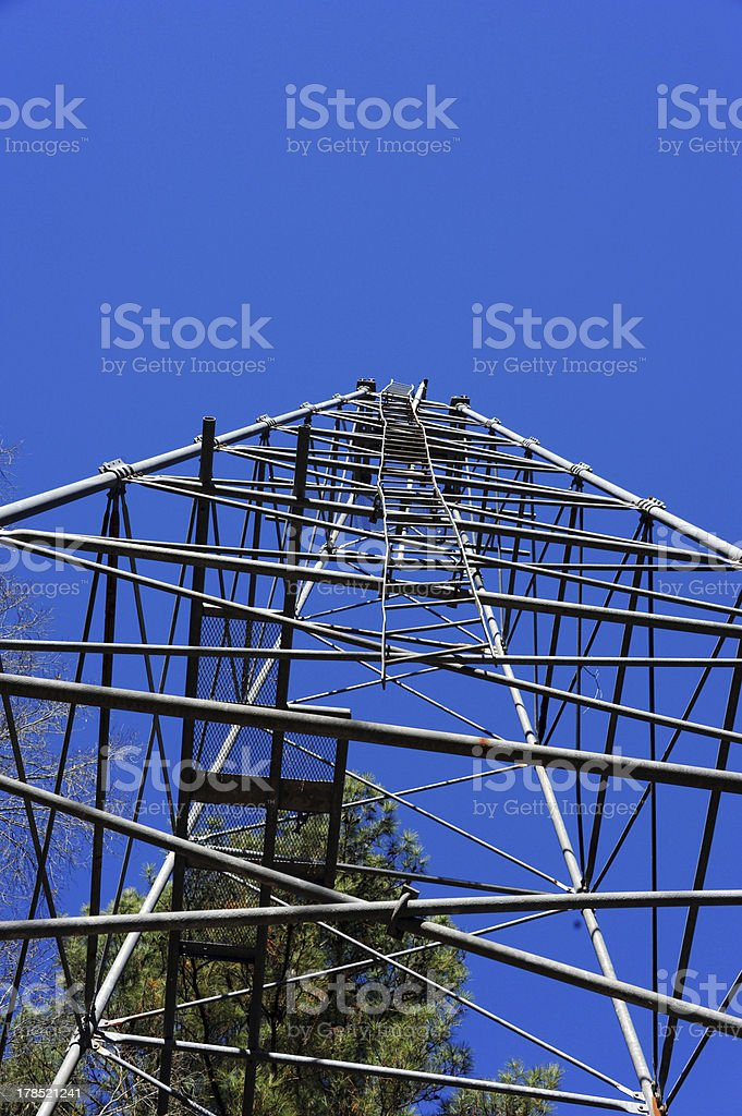 Crooked Ladder on Derrick royalty-free stock photo