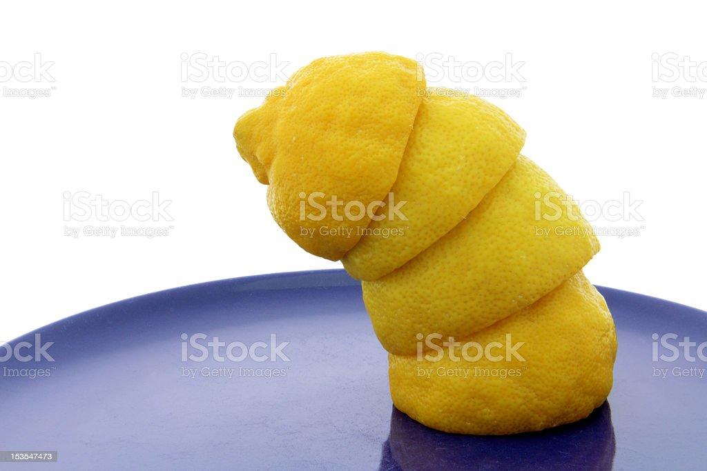 crooked lemon stock photo
