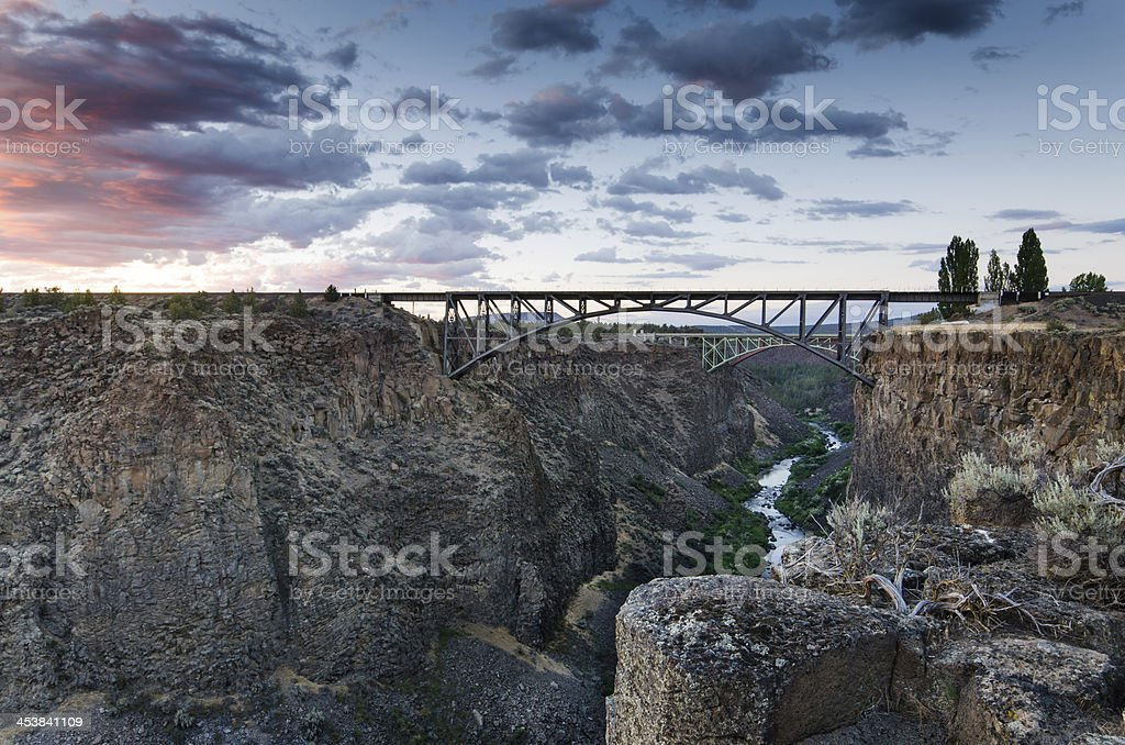 Crooked River Gorge, Redmond, OR royalty-free stock photo