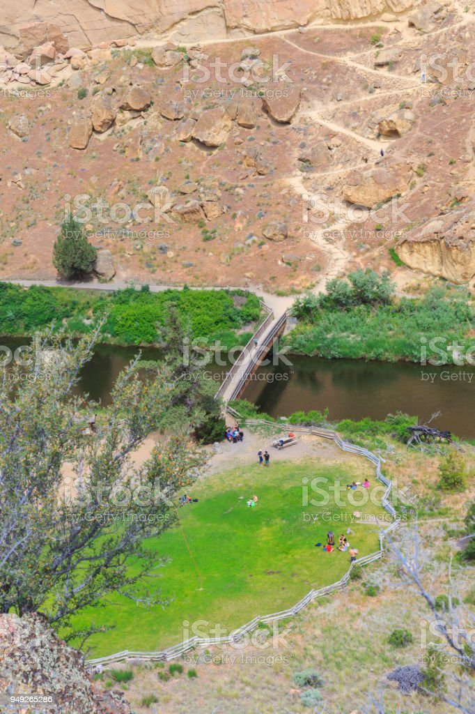 Crooked River, Smith Rock State Park, Oregon stock photo