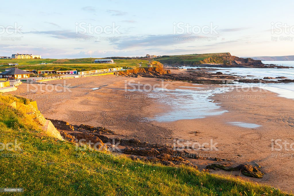 Crooklets Beach Bude Cornwall stock photo