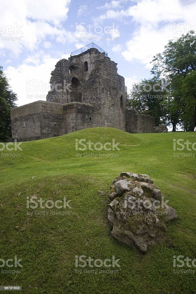 Crookston Castle royalty-free stock photo