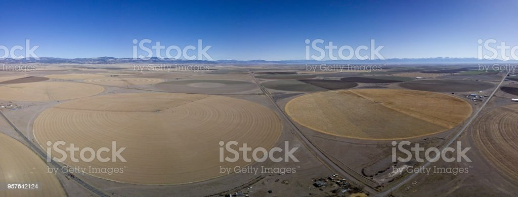 Crop Circles From Above stock photo