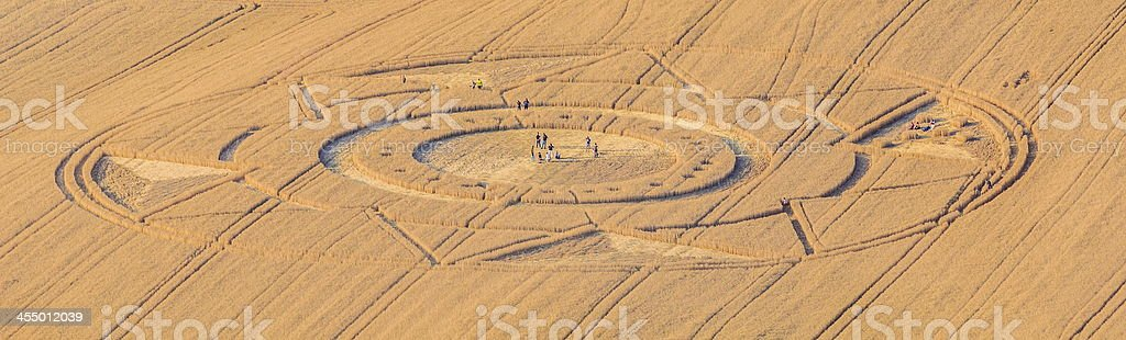 Crop Circles in Italy stock photo