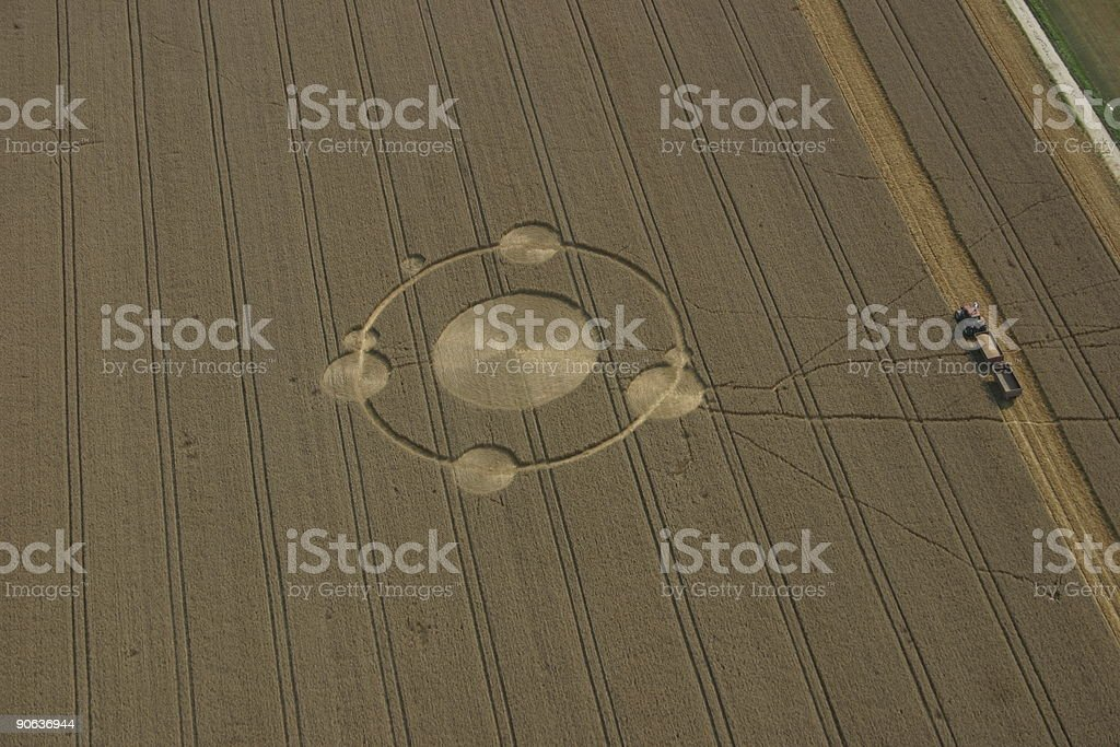 crop circles in the field stock photo