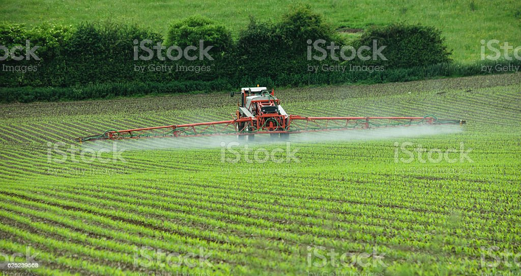 Crop spraying stock photo