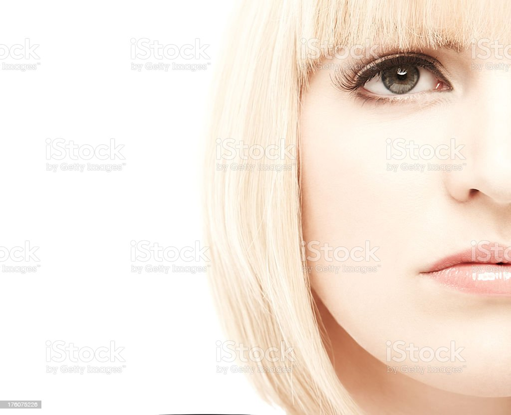 Cropped Close-up of Woman's Face royalty-free stock photo