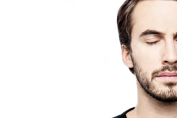 Cropped Bild der junge Mann Gesicht – Foto