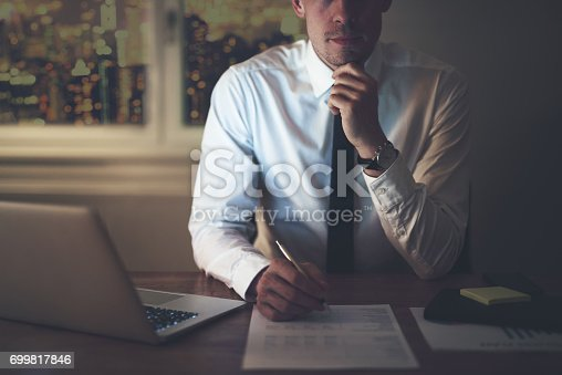 659493026 istock photo Cropped portrait of businessman 699817846