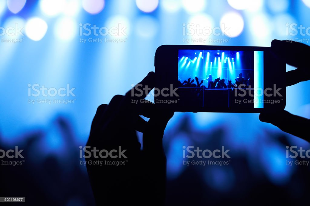 Capturing the awesomeness! stock photo