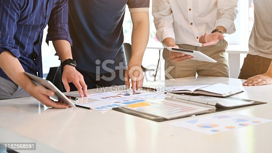 1068752548 istock photo Cropped shot Start up business with Young businessman consult meeting on work table. 1152568591