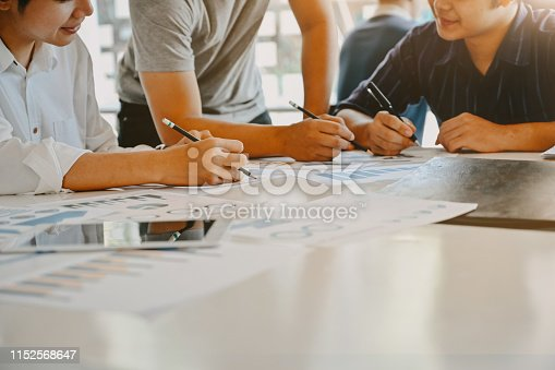 1068752548 istock photo Cropped shot Start up business with Young businessman consult meeting on work table. 1152568647