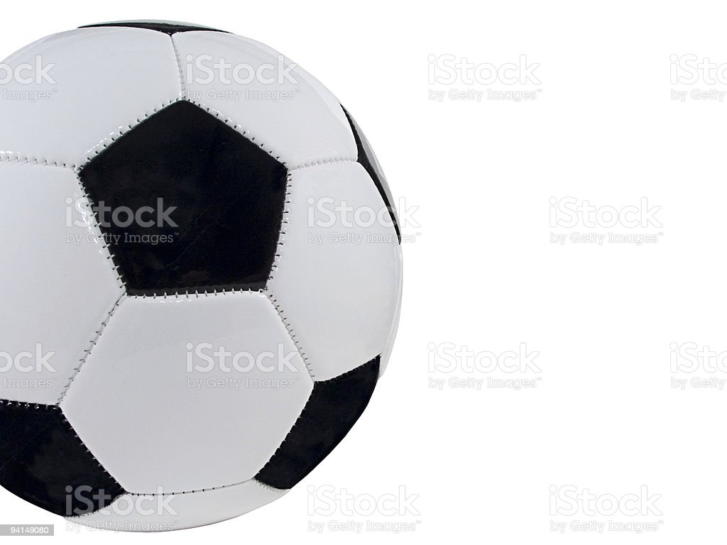 Cropped Soccer Ball royalty-free stock photo
