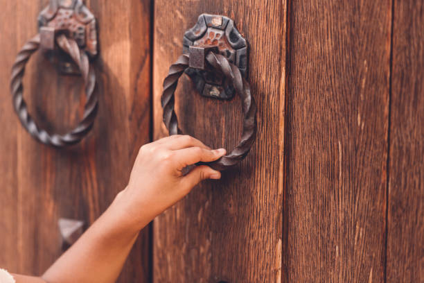 Best Knocking On Door Stock Photos, Pictures & Royalty-Free