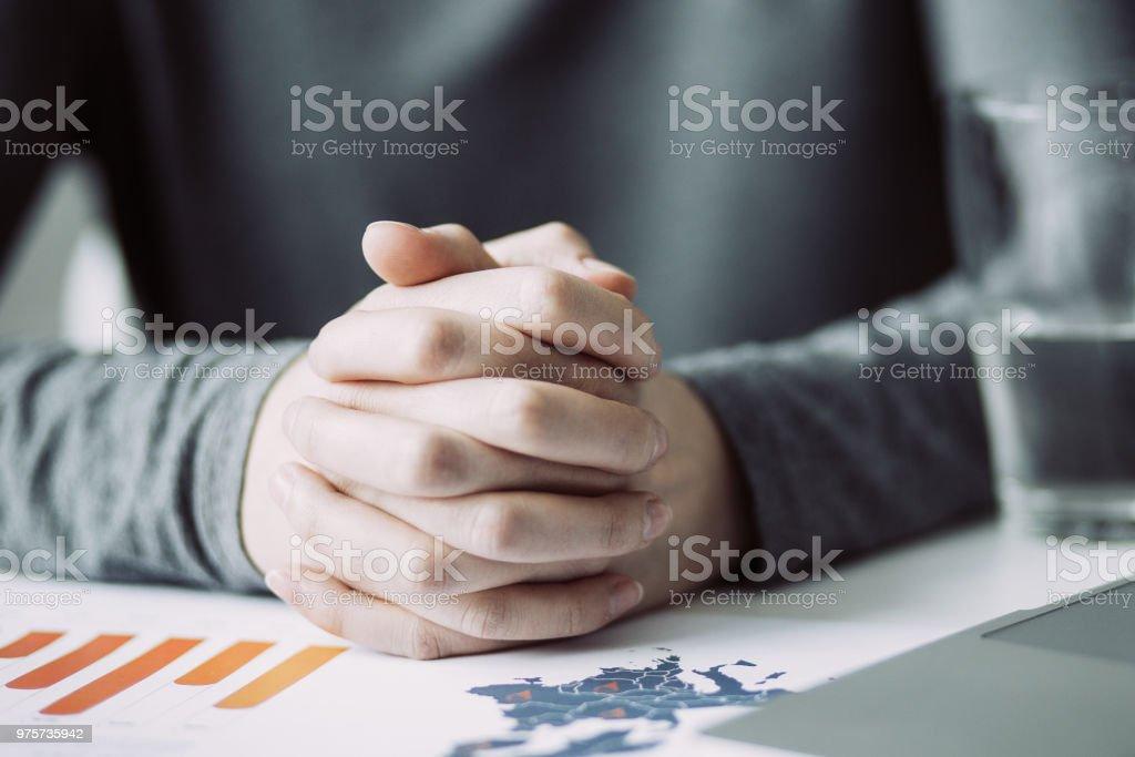Ansicht des Managers Pause beschnitten - Lizenzfrei Arbeiten Stock-Foto
