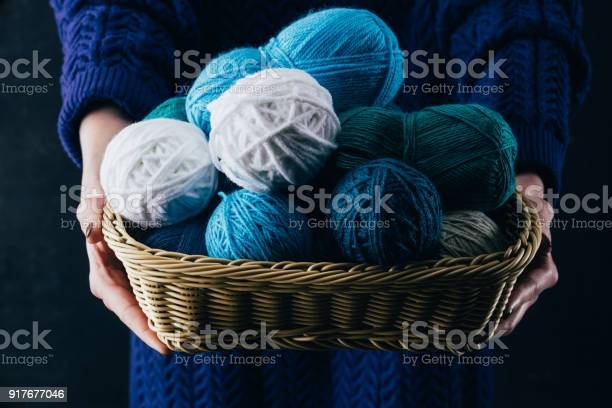 Cropped view of woman holding wicker basket with yarn balls picture id917677046?b=1&k=6&m=917677046&s=612x612&h=zcipb7zsd9ib8aavmdqpz4ygu1de swvhje02kv4bke=