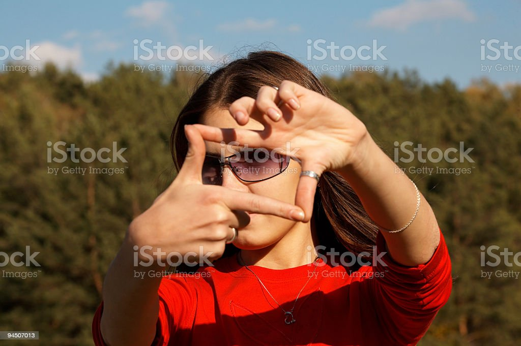 Cropping the World royalty-free stock photo