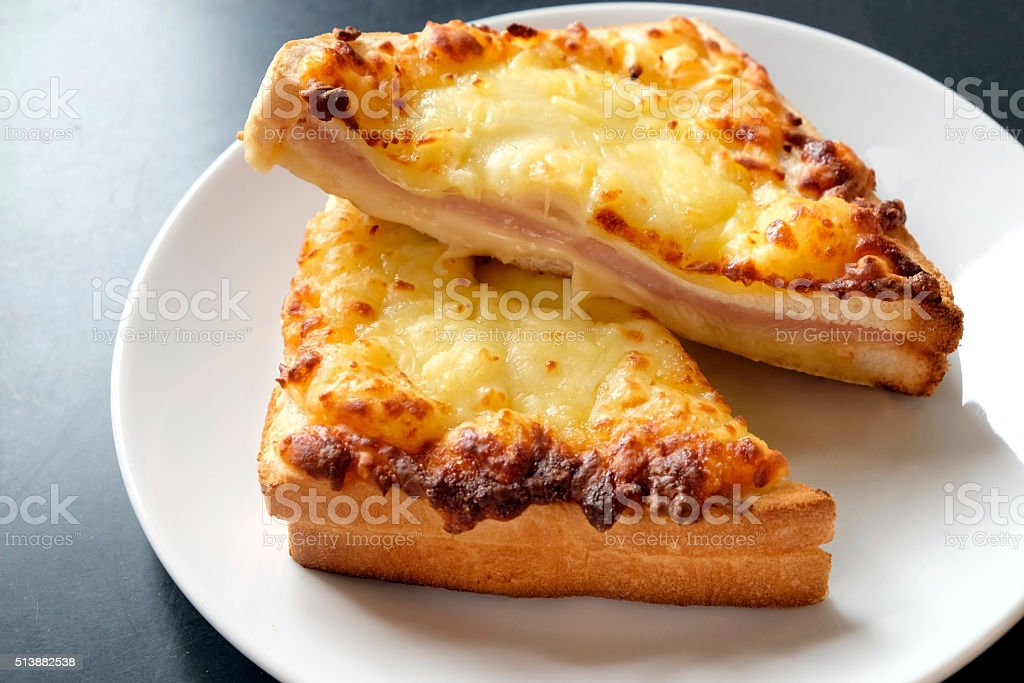 croque monsieur stock photo