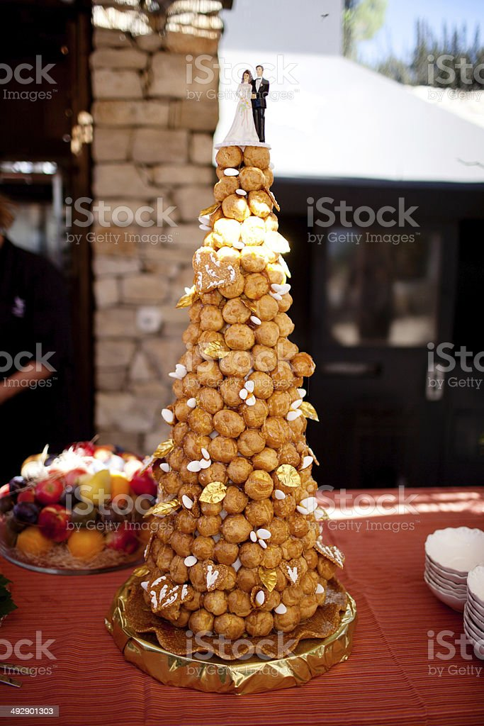 profiterole tower wedding cake royalty free croquembouche pictures images and stock 18800