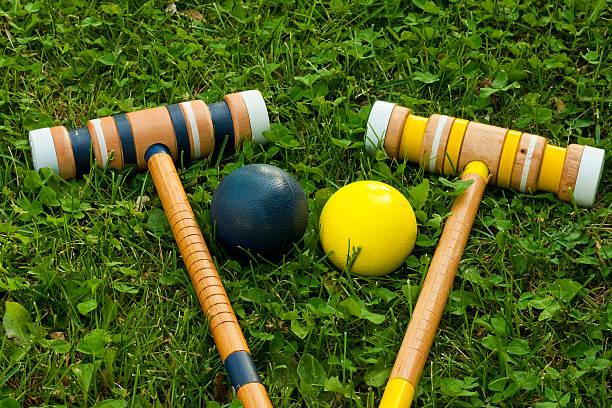 croquet equipment stock photo
