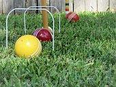 istock Croquet Game 1254446049