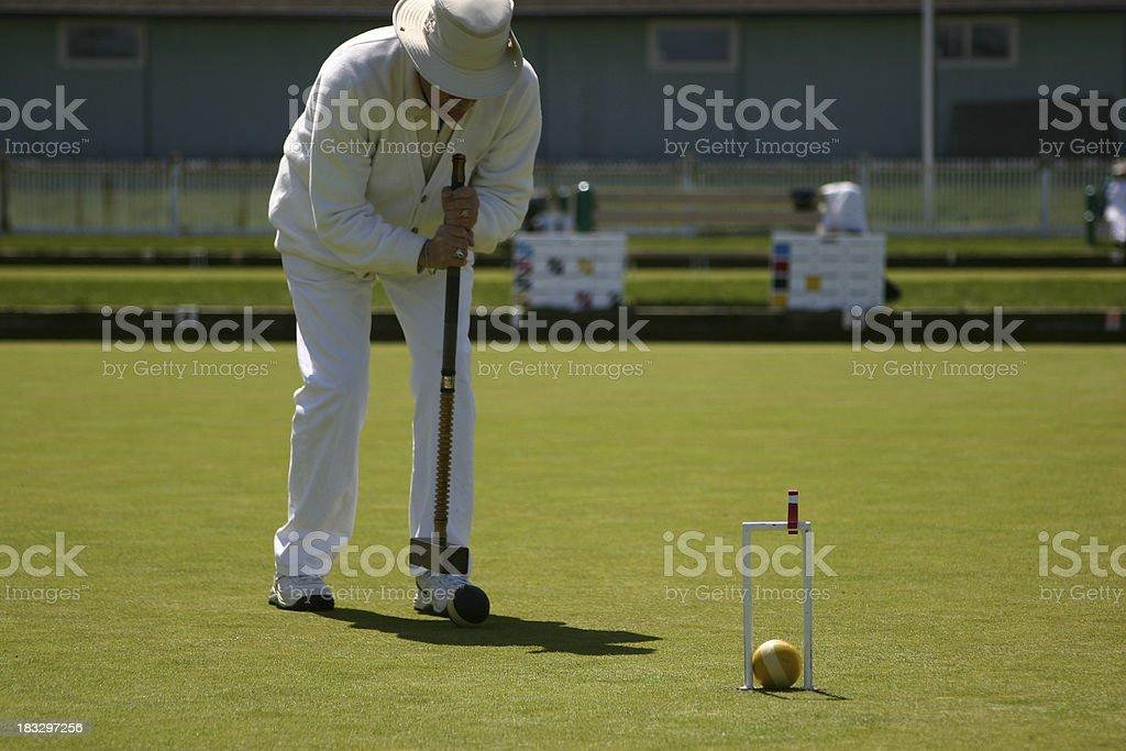 Croquet Man royalty-free stock photo
