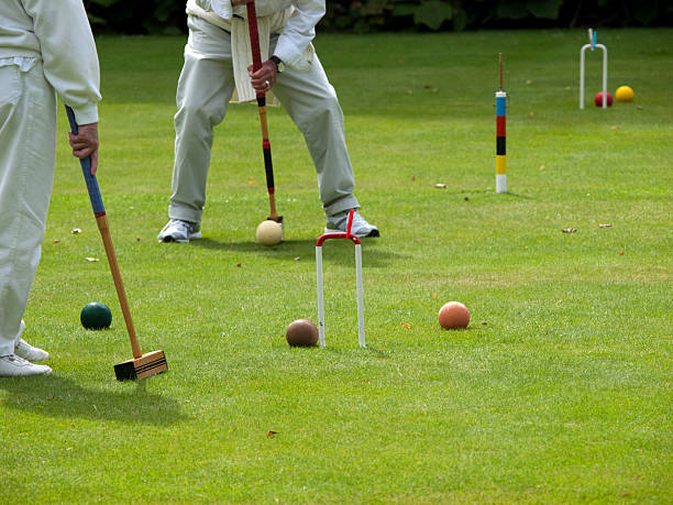 Croquet Players stock photo