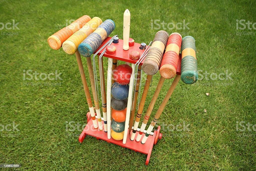 Croquet rack stock photo