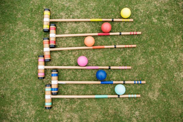 Croquet Set stock photo