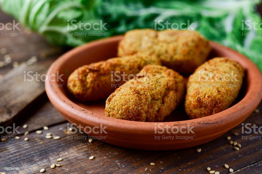 Croquetes, croquetes de espanhol - foto de acervo
