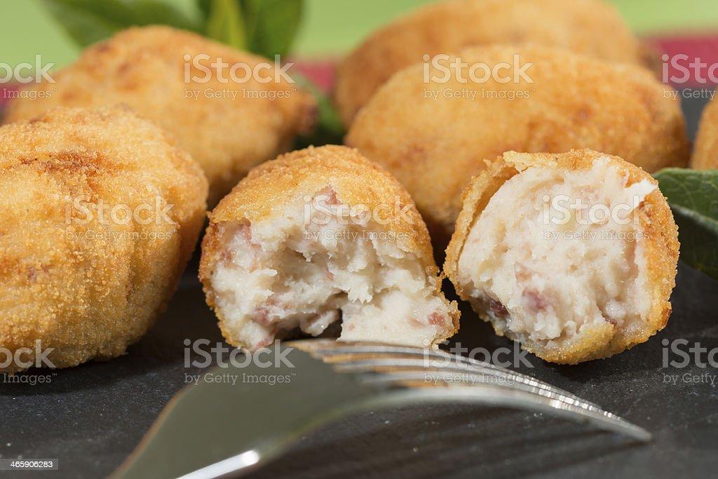 Croquettes delicious stock photo
