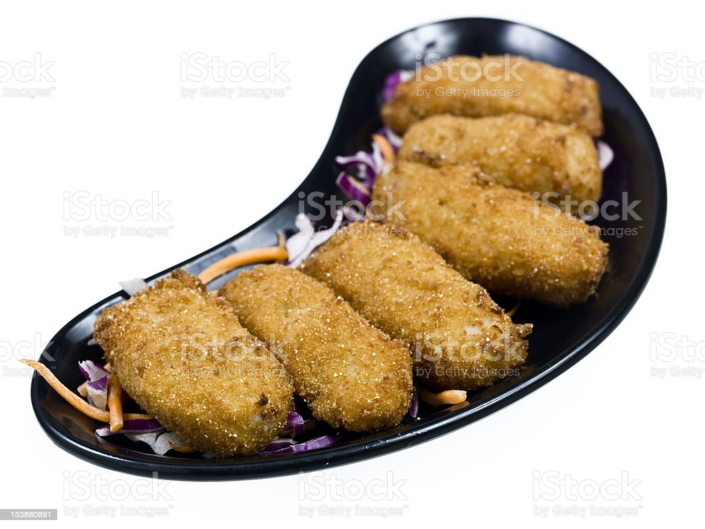 Croquettes filled with ham filling royalty-free stock photo