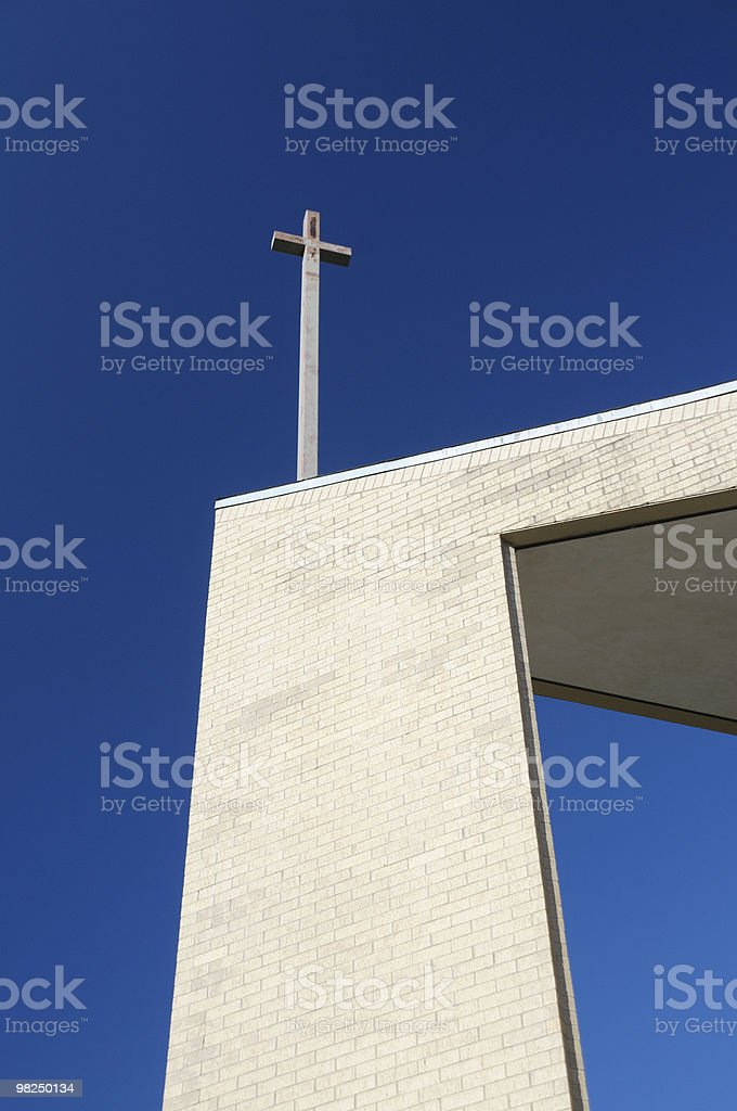 Cross against blue sky royalty-free stock photo