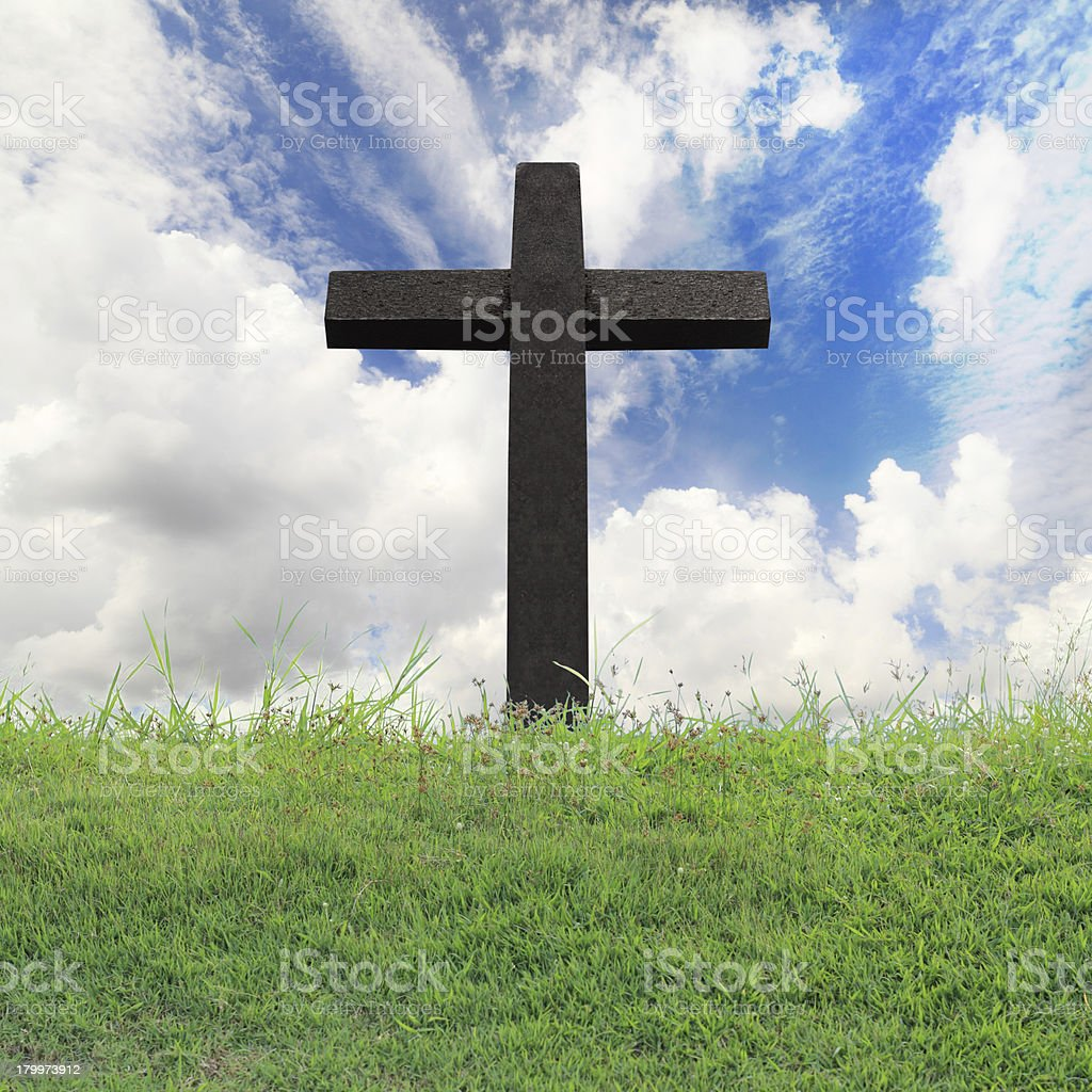 Cross against on blue sky royalty-free stock photo
