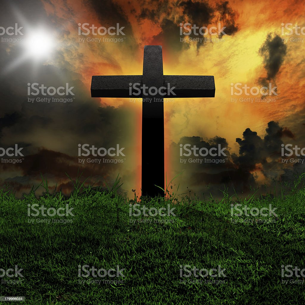 Cross against royalty-free stock photo