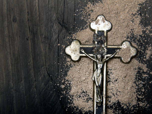 Cross And Ash Symbols Of Ash Wednesday Stock Photo More Pictures