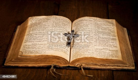 istock Cross and Bible 494624981