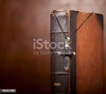 istock Cross and Bible 494624987