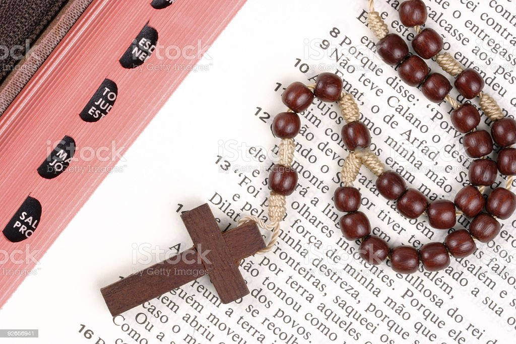 Cross and bible royalty-free stock photo