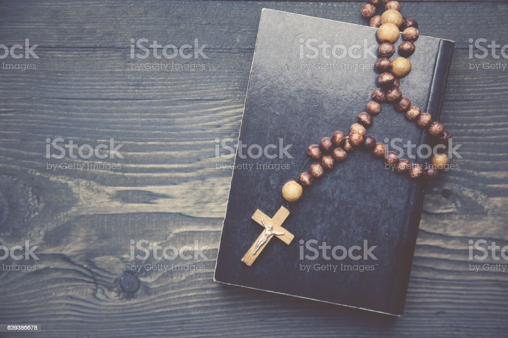 cross and book stock photo