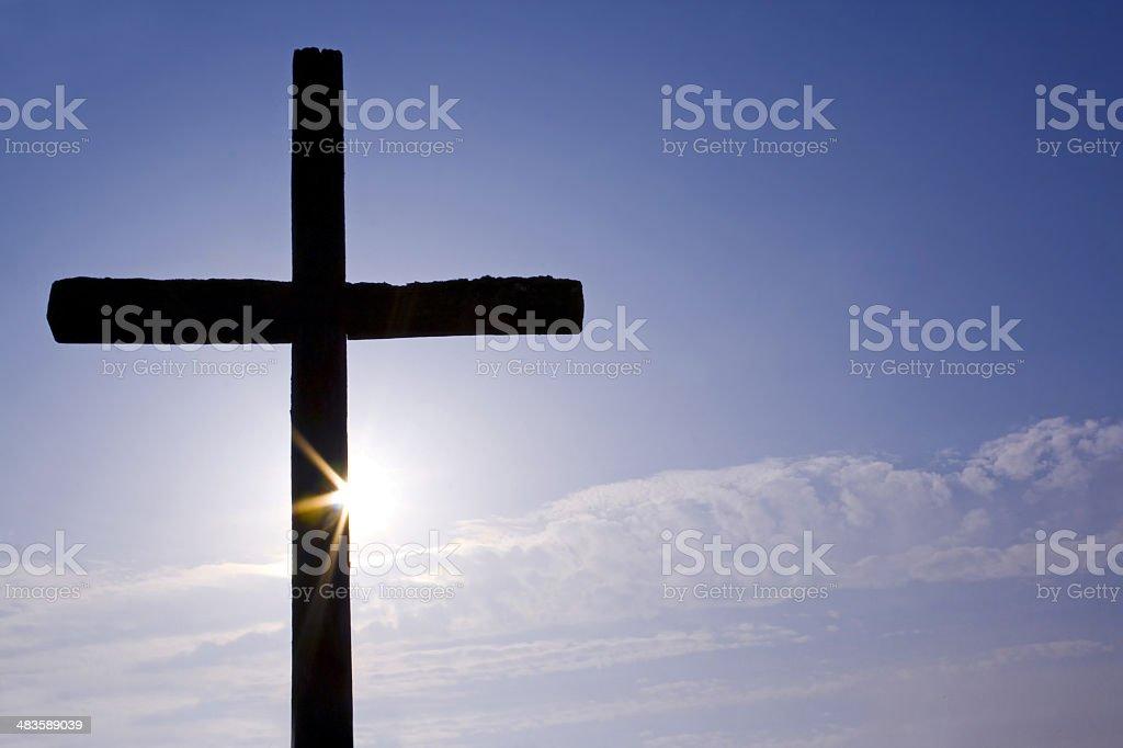 cross and sun royalty-free stock photo