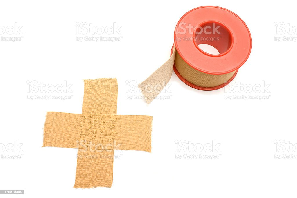 Cross and Tape Adhesive royalty-free stock photo