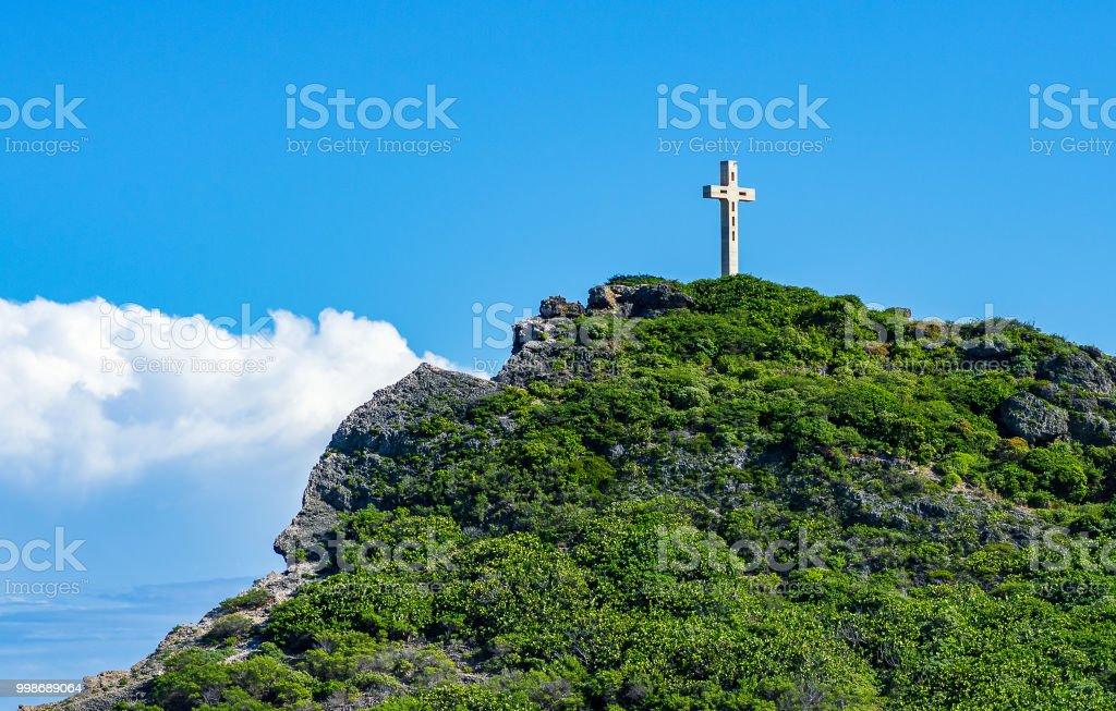 Kreuz am Pointe des Chateaux, Guadeloupe – Foto