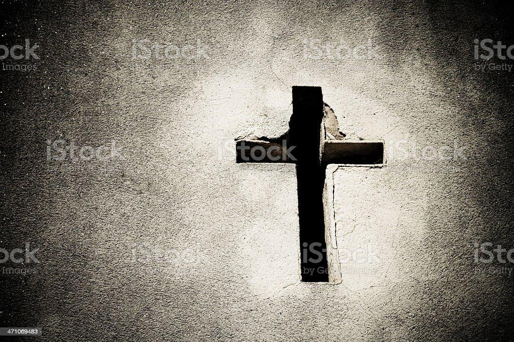 Cross at Recoleta Cemetery stock photo