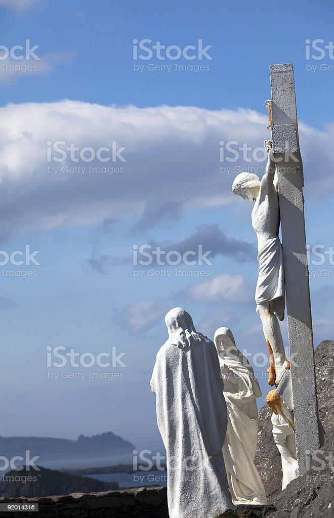 Cross at Slea Head, Dingle, Ireland royalty-free stock photo