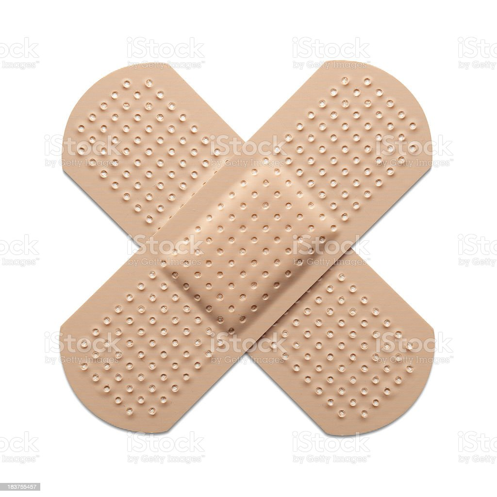 Cross bandaid Cross bandaid. Photography in high resolution.Some similar pictures from my portfolio: Adhesive Bandage Stock Photo
